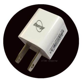 Harga Energy หัวชาร์จ Atapter home charger 1Port USB (ใช้ได้กับ iphone Sumsung huawei oppo vivo Asus android iosทุกรุ่น) Ataptor 1A (White)