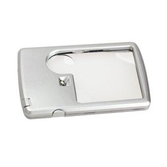 Harga LED Light Ultra Thin 3x 6x Magnifier