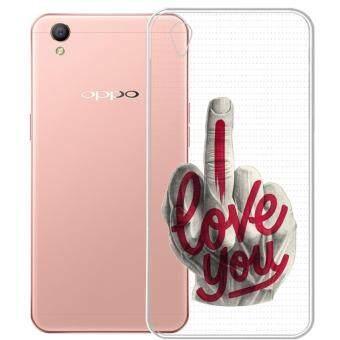 AFTERSHOCK TPU เคส OPPO A37 เคสโทรศัพท์พิมพ์ลาย I Love you เนื้อบาง 0.33 mm