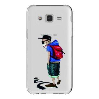 AFTERSHOCK TPUเคสSamsung Galaxy J2 2015เคสโทรศัพท์พิมพ์ลายBat Boyเนื้อบาง0.33 mm