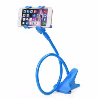Phone Holder ขาจับมือถือ ที่หนีบสมาร์โฟน แท่นวางไอโฟน แบบหนีบ สีน้ำเงิน-Blue