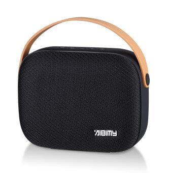 AIBIMY MY550BT ลำโพงไร้สาย ทรงกระเป๋า มีหูหิ้ว รองรับ TF Card สูงสุด 32GB รับสายได้ (สีดำ)