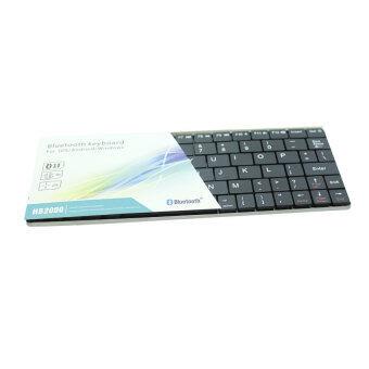 HB2000 Ultra Slim Mini Bluetooth Keyboard บลูทูธ คีย์บอร์ด ขนาดมินิ สำหรับ iPad, Tablet, SmartTV- สีดำ