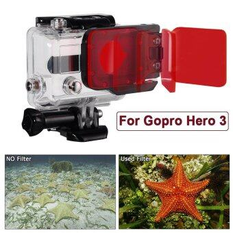 ใต้ทะเลดำน้ำสีแดงตัวแก้ไขสำหรับ Gopro HERO 3