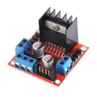 โอเอชดีซีมอเตอร์คู่ขับเคลื่อนสะพานผินโมดูลคอนโทรลเลอร์บอร์ด Arduino L298N