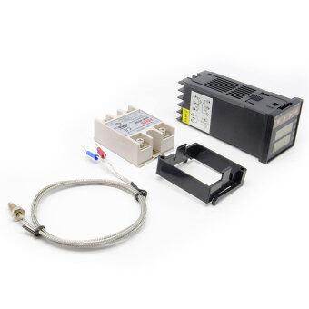 Aukey 220โวลต์ดิจิตอล-PID REX C100 ควบคุมอุณหภูมิ+แมกซ์ 40A SSR+Thermocouple เค (ในประเทศ)
