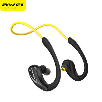 Awei หูฟังบลูทูธ สำหรับออกกำลังกาย Super BASS กันเหงื่อ กันน้ำ Bluetooth Sports Headphones รุ่น A880BL(สีดำเหลือง)