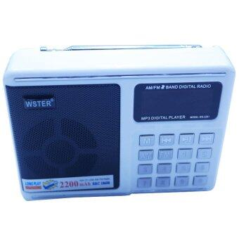 iBettalet ลำโพงพกพา Music Box รุ่น WS-2291 MP3 วิทยุ FM AM (สีขาว)
