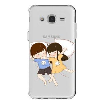 AFTERSHOCK TPU เคส Samsung Galaxy J2 2015 เคสโทรศัพท์พิมพ์ลาย Sleeping เนื้อบาง 0.33 mm