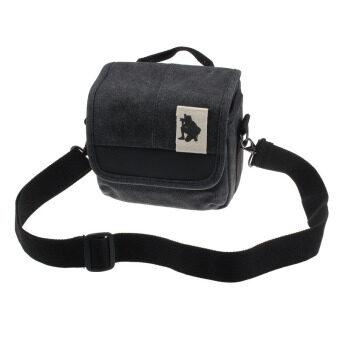 มาใหม่ SLR Digital Camera Case Shoulder Bag Backpack For Canon For Sony Black ขายถูก