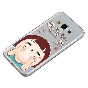 HugCase TPU เคส Samsung Galaxy A5 2015 เคสโทรศัพท์พิมพ์ลาย Joob Joob เนื้อบาง 0.3 mm