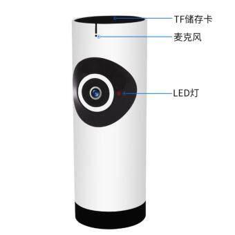 IT 180องศามุมกล้องไอพีไร้สายมินิจท 720P เครือข่ายไร้สายกล้องจิ๋วติดเอสมองในที่มืดกล้องวงจรเสียง(สีขาว) รุ่น 8101