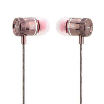 ในหู 3.5มมเครื่องเสียงชุดหูฟังหูฟังหูฟังหูฟังเพลงไวโอลินที่มีสายควบคุมไมโครโฟนสำหรับ iPhone 6s plus Samsung Galaxy Mp3/4 พีซีโน้ตบุ๊คเครื่องเล่น (ทอง)