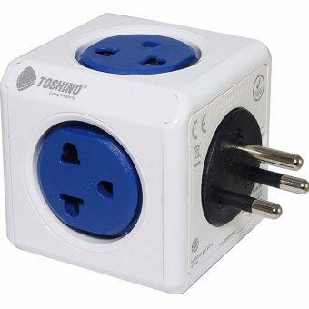 ปลั๊กไฟ Toshino Power Cube 4 ช่อง 2 USB รุ่น 4600/THOUPC