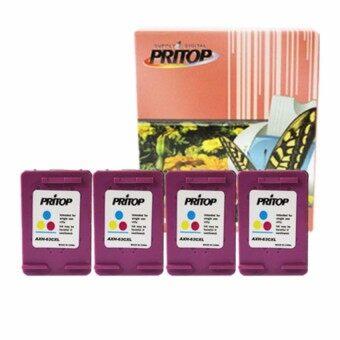 PRITOP HP ink 63CO-XL Ink Cartridge หมึกสีดำ 4 ตลับ