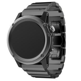 Bluesky นาฬิกาข้อมือโลหะสแตนเลสสายรัดเหล็กสำหรับ Garmin Fenix 3/ฝ่าย