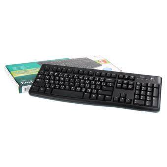 Logitech คีย์บอด USB Keyboard LOGITECH (K120) Black