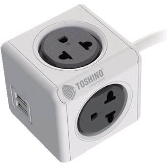 ปลั๊กไฟ Toshino Power Cube 4ช่อง 2USB ยาว 1.5m. รุ่น 4800/THEUPC