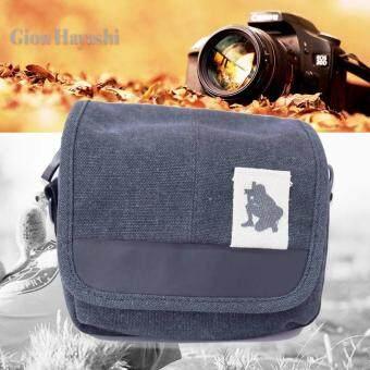 Hayashi - กระเป่ากล้อง SLR Digital Camera Case Shoulder Bag Backpack For Canon For Sony ( Black )