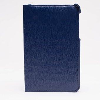 ASUS เคส Asus Memopad ME175 หนัง สีกรม (DARK BLUE)