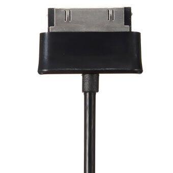 ข้อมูลสายชาร์จ usb แบบซิงค์สำหรับ Samsung Galaxy TAB 2 แท็บเล็ต 8.9นิ้ว 10.1นิ้ว P7500 (สีดำ)