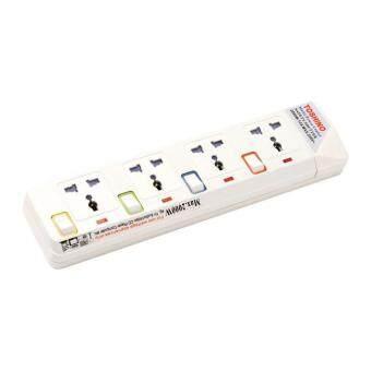 Toshino รางปลั๊กไฟกันไฟกระชาก 4 ช่อง 4 สวิตช์ 4.5 เมตร E-9145Y - White