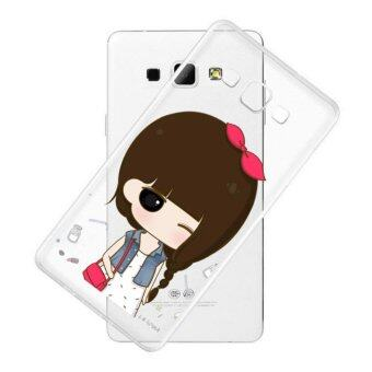 AFTERSHOCK TPU Case Samsung Galaxy J7 2016 (เคสใสพิมพ์ลาย I'm a girl 2 ) / Thin 0.33 mm