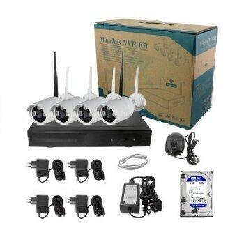 Mastersat กล้องวงจรปิด Wireless IP Camera 4 กล้อง 1 MP 720P NVR with HDD 1 TB IPWI004HDD