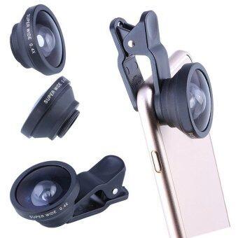 LIVA BE PRO - SELFIE SUPER WIDE ANGLE CLIP LENS คลิปเลนส์กล้องมือถือ iPhone Samsung สำหรับถ่ายภาพ เซลฟี่แบบกลุ่ม ภาพวิวมุมกว้าง รุ่น Super Wide 0.4X (สีดำ)