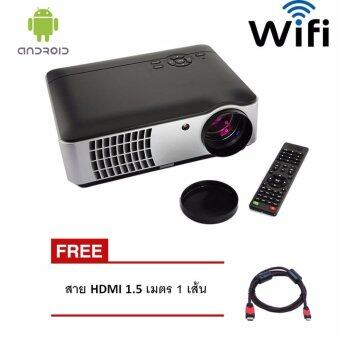 โปรเจคเตอร์ Android Wifi RD806 LED All in one Multimedia 2800 Lumens Free HDMI x 1