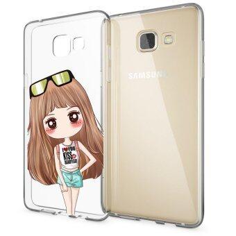 HugCase TPU เคส Samsung Galaxy A7 2016เคสโทรศัพท์พิมพ์ลาย Kiss Girl เนื้อบาง 0.3 mm