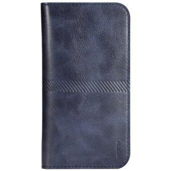 กระเป๋าถือฝาหินหนังแท้สำหรับ Apple iPhone 6s Plus 13.97ซม (สีน้ำเงิน)