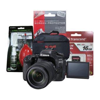 Canon EOS 80D kit 18-135 is usm +Transcend SD 16GB CLASS10 +ฟิล์มกันรอย+ชุดทำความสะอาด+กระเป๋า
