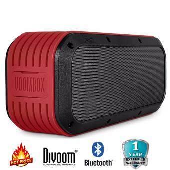 Divoom Outdoor 2nd Stereo Wireless Bluetooth Speaker ลำโพงบลูทูธแบบพกพากันน้ำได้ 15 W. สำหรับคอม/มือถือ/เครื่องเสียงอื่นๆ รับประกัน 1 ปี
