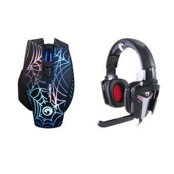 Marvo ชุด เมาส์+หูฟัง รุ่น M906,H8315 (สีดำ)