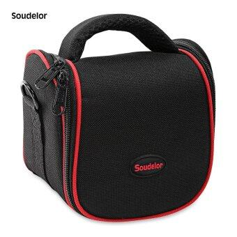 Harga Soudelor Convertible Zip Around Nylon Camera Bag (Red) - intl
