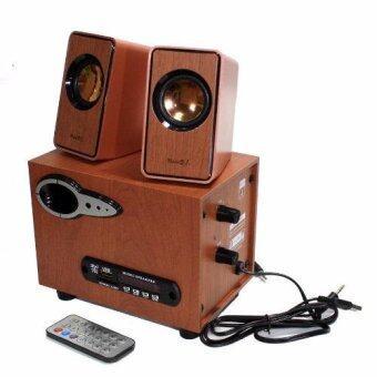 Music D.J. SP-21 ตู้ลำโพงบลูทูธ Bluetooth Speaker 2.1 CH รองรับ AUX/BT 8W+3W x 2