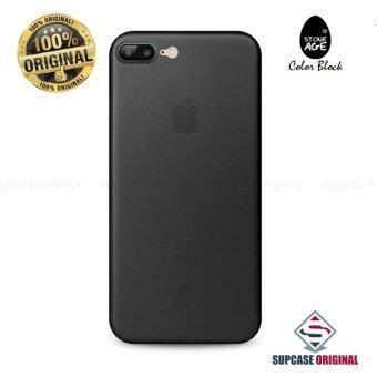 STONE AGE Color Block Collection Slim Fit Case 0.4 mm. ของแท้ สำหรับ iPhone 7 Plus สีดำใส (Through Black)