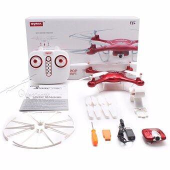 SYMA โดรนติดกล้องถ่ายภาพทางอากาศ รุ่น X5UW Wifi FPV 720P HD Camera Quadcopter Drone with Flight Plan Route App Control & Altitude Hold Function (สีแดง)