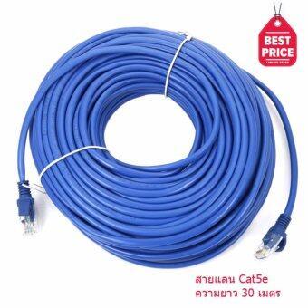 Link Cable CAT5E สายแลน เข้าหัวสำเร็จรูป 30 เมตร (สีน้ำเงิน)(Blue)