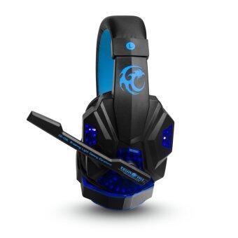 สินค้ายอดนิยม Tsunami Breathing Light Gaming HEADPHONE + MICROPHONE Blue GE-03L ข้อมูล