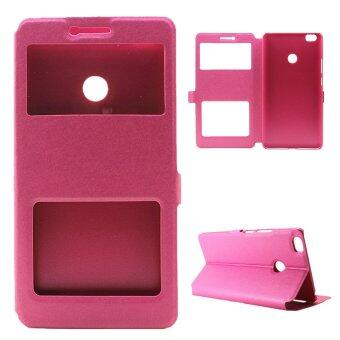 Harga Silk Grain View Window Leather Shell Case for Xiaomi Mi Max (Rose) - intl