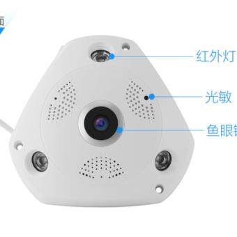 IT IP CAM กล้องวงจรปิดไร้สาย HD Panoramic Camera Lens 360°(สีขาว) รุ่น 3603
