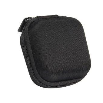 กระเป๋าถือกระเป๋าเก็บหูฟังหูโทรศัพท์อย่างเคสสำหรับหูฟัง (สีดำ)