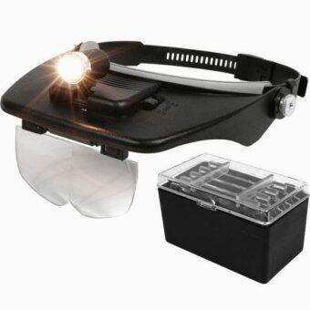 Light Head Magnifying Glass หมวกแว่นขยาย - Black
