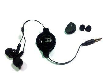 Vertex หูฟัง Cord Rewind Ear Canal type - สีดำ