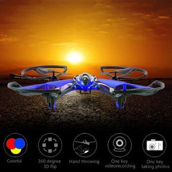 DRONE ทรงสปอร์ต โดรนติดกล้องเม็ม 720p มีระบบกลับทางหน้าหลังในปุ่มเดียว (อัดวีดีโอในเม็มการ์ด)