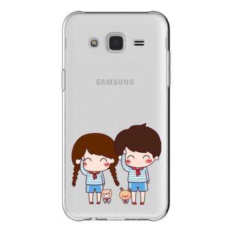 HugCase TPU เคส Samsung Galaxy Grand 2 เคสโทรศัพท์พิมพ์ลาย Say Hi เนื้อบาง 0.3 mm
