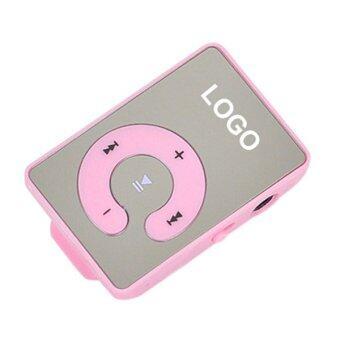 Sanwood คลิปยูเอสบี MP3 เล่นรองรับ 1.., 8จิกะไบต์ไมโครเอสดี ถ้าเขา+หูโทรศัพท์+เคเบิลสีชมพู
