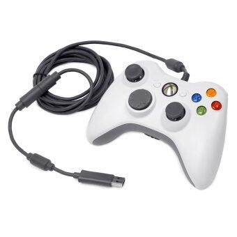 จอยเดี่ยวสั่น หัวUSB Wired Gaming Controller Pad Joystick For PC & NOTE BOOK (สีขาว)